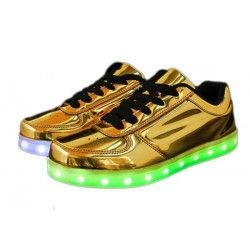 LED SHOES Low Doradas