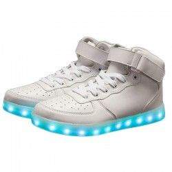 LED SHOES Hight Blancas