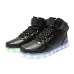 LED SHOES Hight Negras